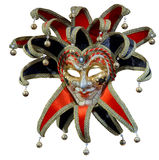 Geïsoleerd Venetiaans jokermasker Stock Afbeelding