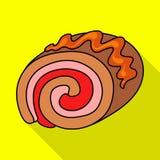 Geïsoleerd voorwerp van banketbakkerij en culinair embleem Inzameling van banketbakkerij en kleurrijk vectorpictogram voor voorra royalty-vrije illustratie