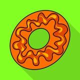Geïsoleerd voorwerp van banketbakkerij en culinair pictogram Inzameling van banketbakkerij en kleurrijk voorraadsymbool voor Web royalty-vrije illustratie