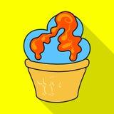 Geïsoleerd voorwerp van banketbakkerij en culinair pictogram Inzameling van banketbakkerij en kleurrijke voorraad vectorillustrat vector illustratie