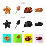 Geïsoleerd voorwerp van banketbakkerij en culinair pictogram Inzameling van banketbakkerij en product vectorpictogram voor voorra vector illustratie