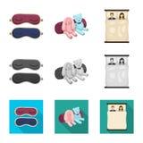 Geïsoleerd voorwerp van dromen en nachtteken Inzameling van dromen en het symbool van de slaapkamervoorraad voor Web vector illustratie