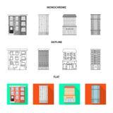 Geïsoleerd voorwerp van gemeentelijk en centrumteken Reeks van gemeentelijk en landgoed vectorpictogram voor voorraad royalty-vrije illustratie