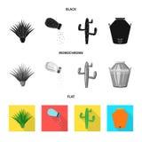 Geïsoleerd voorwerp van koffie en Latijns symbool Inzameling van koffie en nationaal voorraadsymbool voor Web vector illustratie