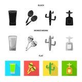 Geïsoleerd voorwerp van koffie en Latijns teken Inzameling van koffie en nationaal vectorpictogram voor voorraad vector illustratie