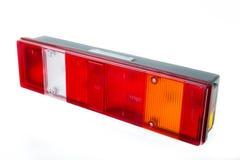 Geïsoleerd vrachtwagenachterlicht stock afbeelding