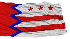 Geïsoleerd Washington City Flag, de Verenigde Staten van Amerika Stock Foto