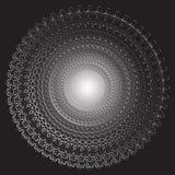 Geïsoleerd zwart-wit bloemen vectorpatroon Kalligrafische uitstekende bloemen, wervelingen, lijnen, krommen en ornament bloei royalty-vrije illustratie