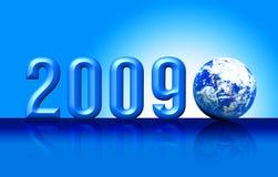 Geïsoleerda 3D van de aarde 2009 Stock Fotografie