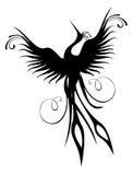 Geïsoleerda de vogelcijfer van Phoenix royalty-vrije illustratie