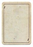 Geïsoleerda op wit oud speelkaartdocument met nummer twee Stock Foto