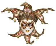 Geïsoleerda Venetiaans jokermasker Royalty-vrije Stock Afbeeldingen