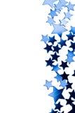Geïsoleerdd frame van blauwe sterren Stock Afbeelding