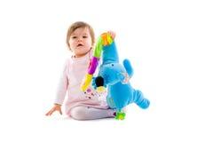 Geïsoleerdd spelen van de baby Royalty-vrije Stock Fotografie
