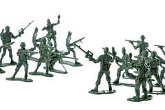 Geïsoleerde¯ de Militairen van het stuk speelgoed Stock Foto's