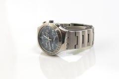 geïsoleerde¯ het horloge van de chronograaf Stock Foto