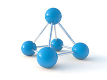 Geïsoleerde 3d molecule Stock Illustratie