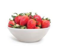 Geïsoleerde aardbeien Stock Foto's
