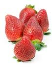 Geïsoleerde aardbeien, Royalty-vrije Stock Foto