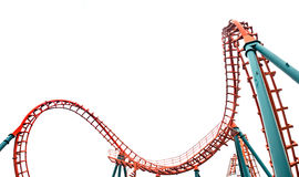 Geïsoleerde achtbaan, Stock Afbeelding