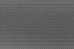 Geïsoleerde achtergrond van het close-up de zilveren woofer geluid vector illustratie
