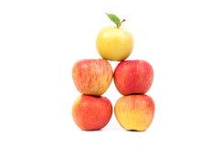Geïsoleerde¯ appelen Stock Fotografie