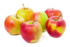 Geïsoleerde appelen, royalty-vrije stock afbeelding