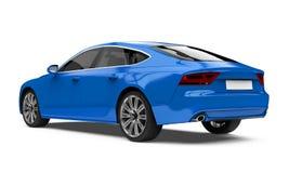Geïsoleerde Auto van de luxe de Blauwe Sedan Stock Fotografie