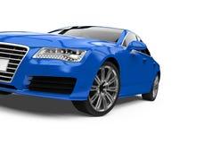 Geïsoleerde Auto van de luxe de Blauwe Sedan Royalty-vrije Stock Foto