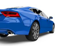 Geïsoleerde Auto van de luxe de Blauwe Sedan Stock Foto