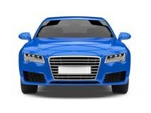 Geïsoleerde Auto van de luxe de Blauwe Sedan Royalty-vrije Stock Fotografie