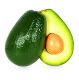 Geïsoleerde avocado Royalty-vrije Stock Afbeeldingen