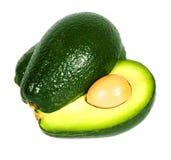 Geïsoleerde avocado Stock Fotografie