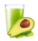 Geïsoleerde avocado smoothie royalty-vrije stock foto
