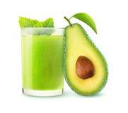 Geïsoleerde avocado smoothie stock afbeeldingen