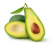 Geïsoleerde avocadovruchten stock afbeelding