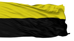 Geïsoleerde Barrancabermeja-stadsvlag, Colombia stock videobeelden