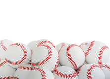 Geïsoleerde Baseballs Royalty-vrije Stock Foto's