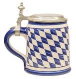 Geïsoleerde Beierse Bierstenen bierkroes Royalty-vrije Stock Afbeelding