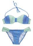 Geïsoleerde bikinireeks Royalty-vrije Stock Foto