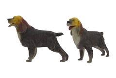 Geïsoleerde binnenlandse hondstuk speelgoed foto Stock Afbeelding