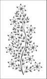 Geïsoleerde bloemillustratie Royalty-vrije Stock Fotografie