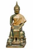 Geïsoleerde Boedha op witte achtergrond Royalty-vrije Stock Afbeeldingen
