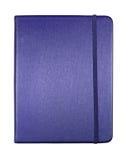 Geïsoleerde= boek van de de kleurensluitnota van de zijde het blauwe Royalty-vrije Stock Fotografie