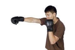 Geïsoleerde bokser Royalty-vrije Stock Afbeeldingen