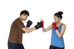 Geïsoleerde bokser Stock Foto