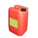 Geïsoleerde brandstofcontainer Stock Fotografie
