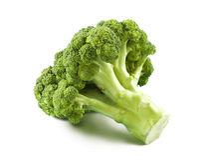Geïsoleerde broccoli Royalty-vrije Stock Fotografie