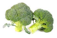 Geïsoleerde broccoligroente Royalty-vrije Stock Foto's
