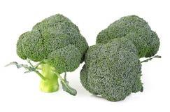 Geïsoleerde broccoligroente Stock Foto's